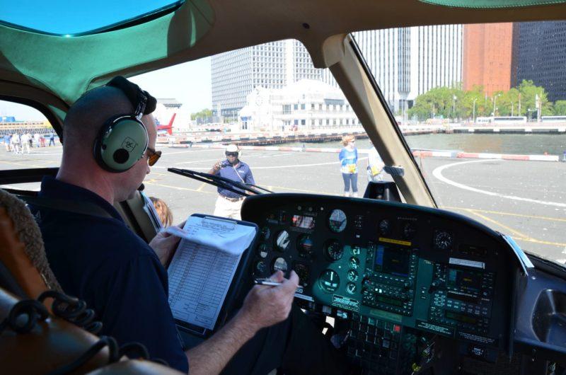 survol new york hélicoptère