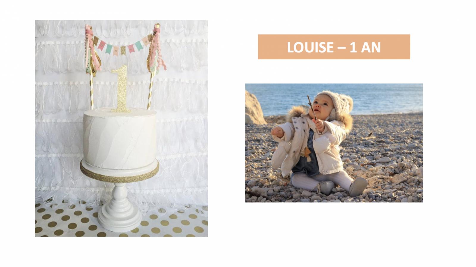 LISTE D'ANNIVERSAIRE DE LOUISE – 1 AN