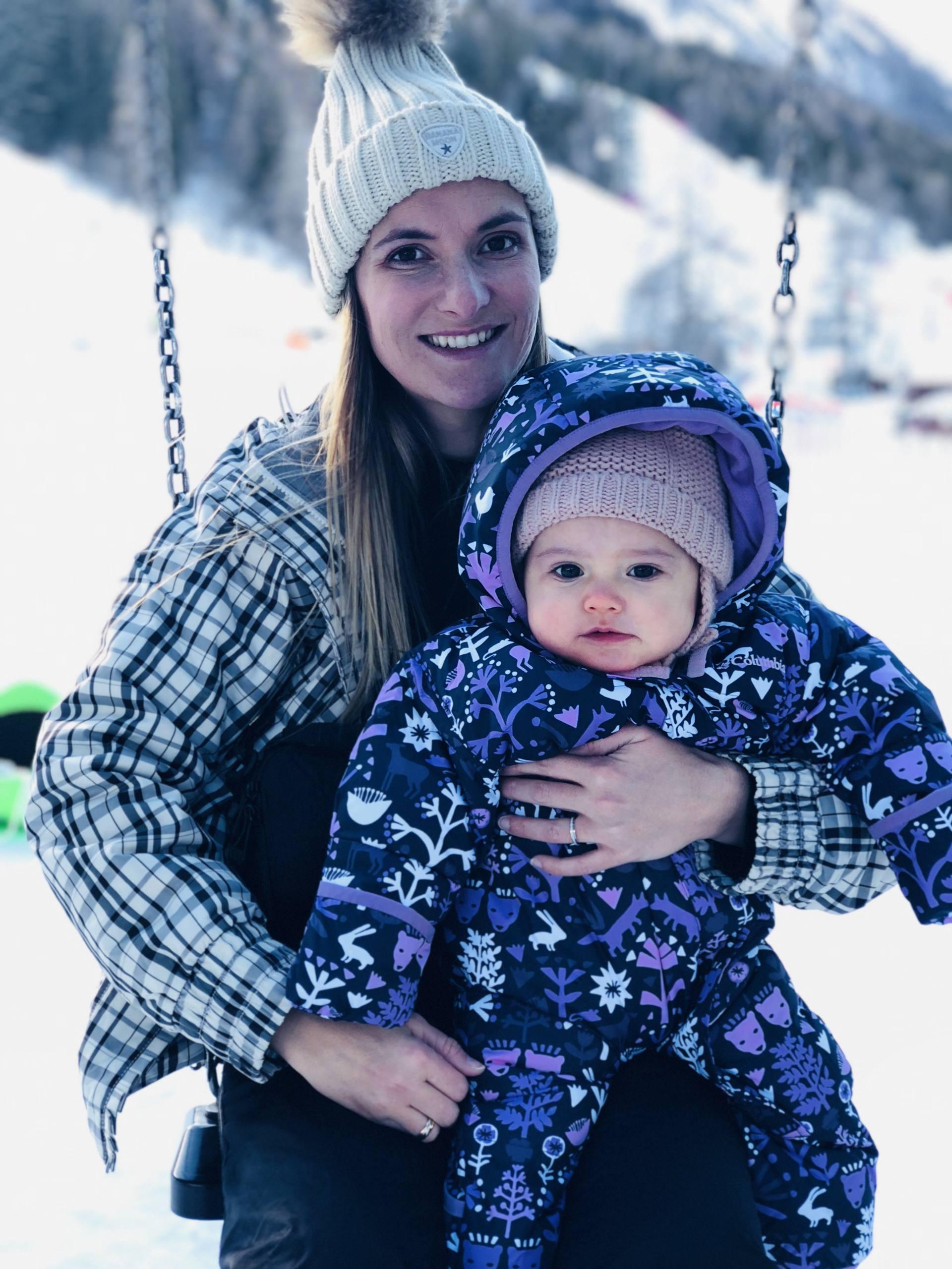 ski avec un bébé