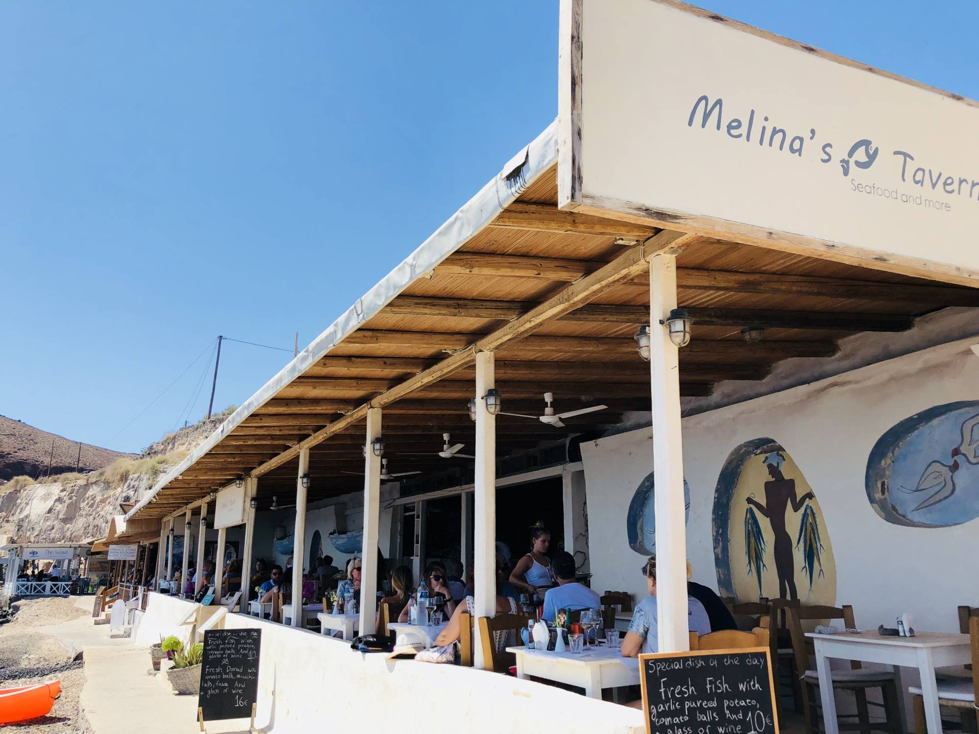melina tavern Akrotiri santorin