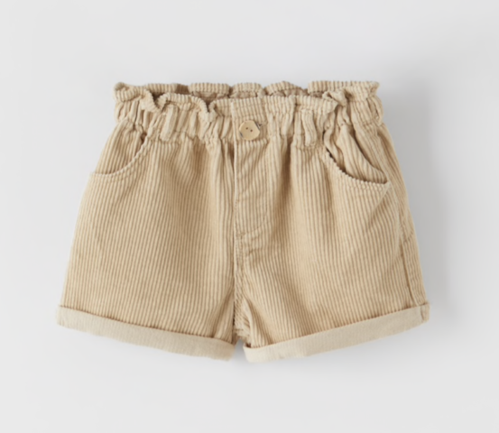 short-velours-beige-fille
