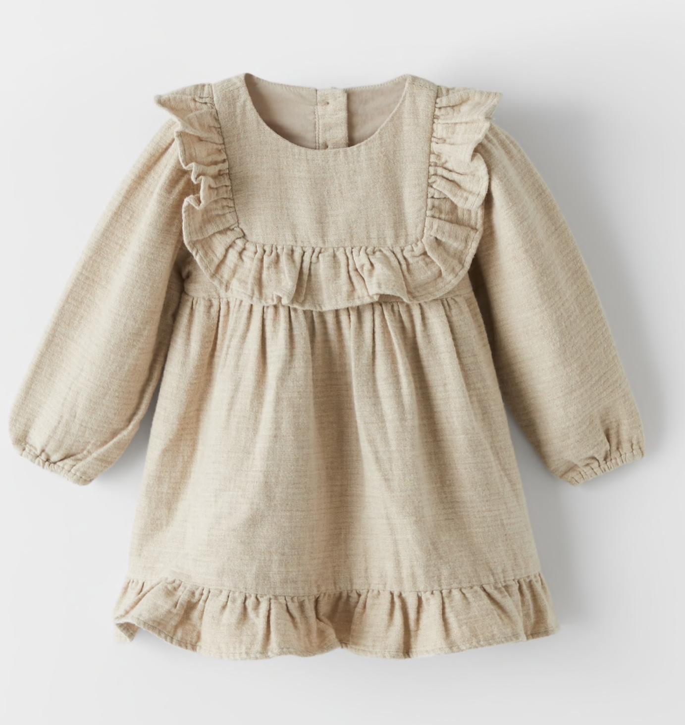 robe-chaude-beige-zara
