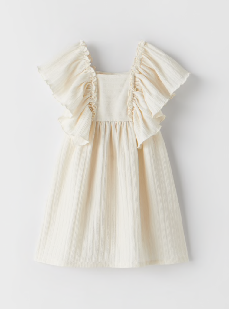 robe-zara-bebe-filles-maille-anglaise