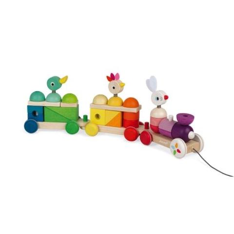 Jouet-en-bois-2-en-1-Janod-Train-geant-multicolor-Zigolos